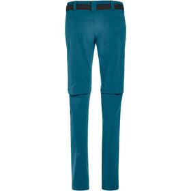 Maier Sports Inara Slim Pantalon convertible avec fermeture éclair Femme, turquoise